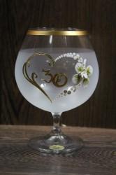 Výročný pohár na 30. narodeniny - BRANDY - biely
