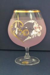Výročný pohár na 30. narodeniny - BRANDY - ružový (v. 16 cm)
