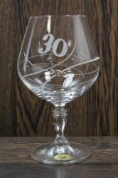 Výročný pohár na 30. narodeniny BRANDY so swarovski kryštálmi
