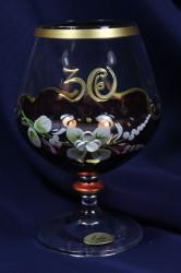 Výročný pohár na 30.narodeniny na BRANDY - bordový