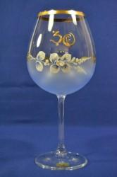 Výročný pohár na 30.narodeniny na VÍNO - modrý