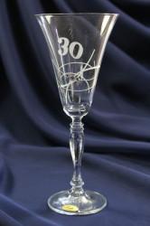 Výročný pohár na 30. narodeniny ŠAMPANSKÉ so swarovski kryštálmi 230 ml