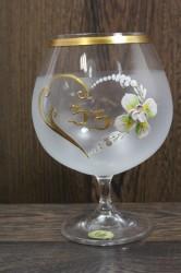 Výročný pohár na 33. narodeniny - BRANDY - biely (v. 16 cm)