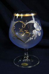 Výročný pohár na 33. narodeniny BRANDY - modrý (400 ml)