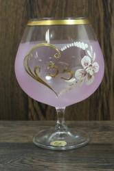 Výročný pohár na 33. narodeniny - BRANDY - ružový (v. 16 cm)