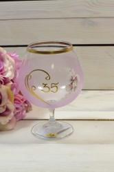 Výročný pohár na 35. narodeniny - BRANDY - ružový