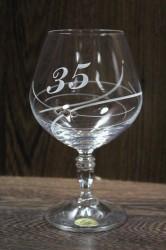 Výročný pohár na 35. narodeniny BRANDY so swarovski kryštálmi