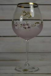 Výročný pohár na 35. narodeniny - VÍNO - ružový