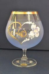 Výročný pohár na 40. narodeniny - BRANDY - modrý (v. 16 cm)
