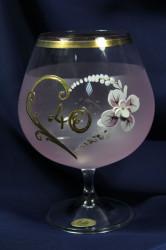 Výročný pohár na 40. narodeniny - BRANDY - ružový 690 ml