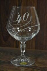 Výročný pohár na 40. narodeniny BRANDY so swarovski kryštáľmi