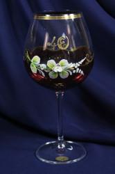 Výročný pohár na 40.narodeniny na VÍNO - bordový (650 ml)
