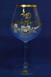 Výročný pohár na 40. narodeniny - VÍNO - modrý
