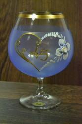 Výročný pohár na 45. narodeniny  BRANDY - modrý