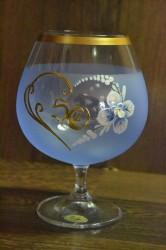 Výročný pohár na 50. narodeniny BRANDY - modrý