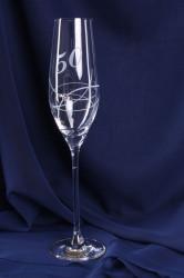 Výročný pohár na 50. narodeniny - ŠAMPANSKÉ so swarovski krištáľmi 3. (210 ml)