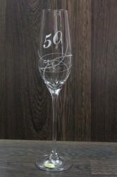 Výročný pohár na 50. narodeniny so swarovski kryštáľmi ŠAMPANSKÉ 2.