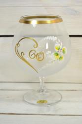 Výročný pohár na 60. narodeniny - BRANDY - biely