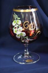 Výročný pohár na 60. narodeniny BRANDY - bordový 2. (400 ml)