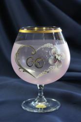 Výročný pohár na 60. narodeniny BRANDY - ružový