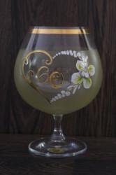 Výročný pohár na 60. narodeniny - BRANDY - žltý(v. 16 cm) #1