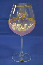Výročný pohár na 60.narodeniny na VÍNO - ružový