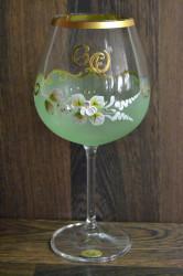 Výročný pohár na 60. narodeniny - NA VÍNO - zelený (v. 23 cm)
