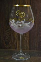 Výročný pohár na 60. narodeniny VÍNO - ružový