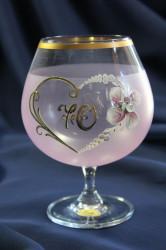 Výročný pohár na 70. narodeniny BRANDY - ružový