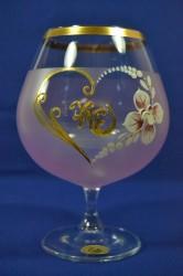 Výročný pohár na 70.narodeniny na BRANDY - ružový