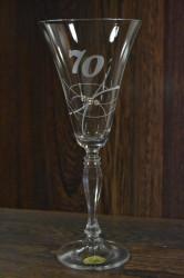 Výročný pohár na 70. narodeniny ŠAMPANSKÉ so swarovski kryštálmi