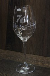 Výročný pohár na 70. narodeniny so swarovski kryštáľmi