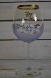 Výročný pohár na 70. narodeniny - VÍNO - modrý