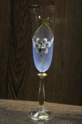 Výročný pohár na 75. narodeniny - ŠAMPANSKÉ - modrý