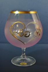 Výročný pohár na 80. narodeniny - BRANDY - ružový 690 ml