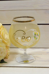 Výročný pohár na 80. narodeniny - BRANDY - žltý