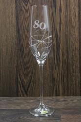 Výročný pohár na 80. narodeniny ŠAMPANSKÉ 2. so swarovski kryštálmi