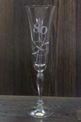 Výročný pohár na 80. narodeniny so swarovski kryštáľmi ŠAMPANSKÉ 3.