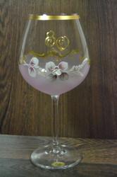 Výročný pohár na 80. narodeniny  VÍNO - ružový 650 ml