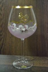 Výročný pohár na 80. narodeniny  VÍNO - ružový