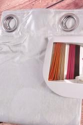 Záves s kruhmi - bledosivý (152x228 cm) Fashion Casa De Moda