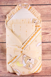 Zavinovačka s kokosovou vložkou a vankúšikom MACÍKY - hnedo-béžová (70x70 cm)