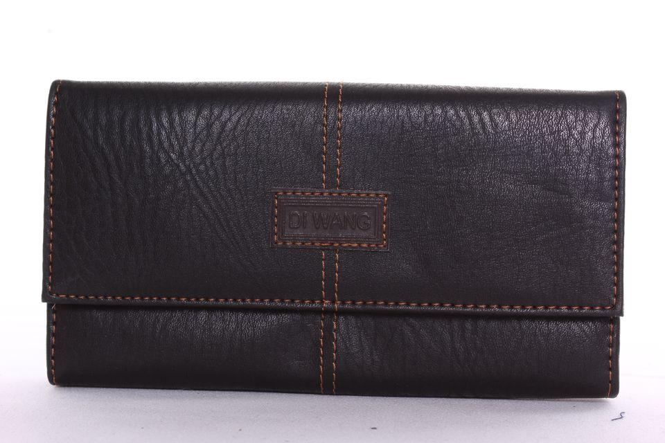 Čašnícka peňaženka prešívaná DI WANG - čierna