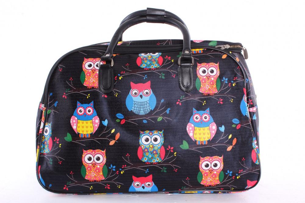 Cestovná taška SOVY (50x35x29 cm) - čierna