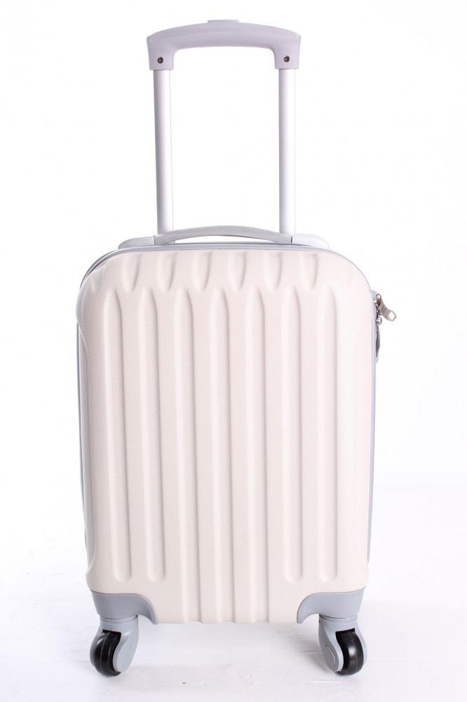 1e5613ca82938 Cestovný kufor LEONARDO DA VINCI - farba slonej kosti (32x42x20 cm + 5 cm  kolieska)