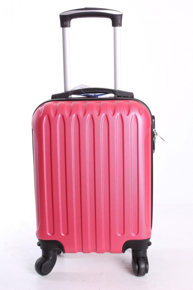 Cestovný kufor LEONARDO DA VINCI - ružový (32x42x20 cm + 5 cm kolieska)