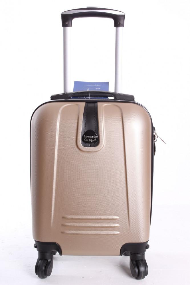 Cestovný kufor LEONARDO DA VINCI - šampanskej farby 1. (32x42x20 cm + 5 cm kolieska)