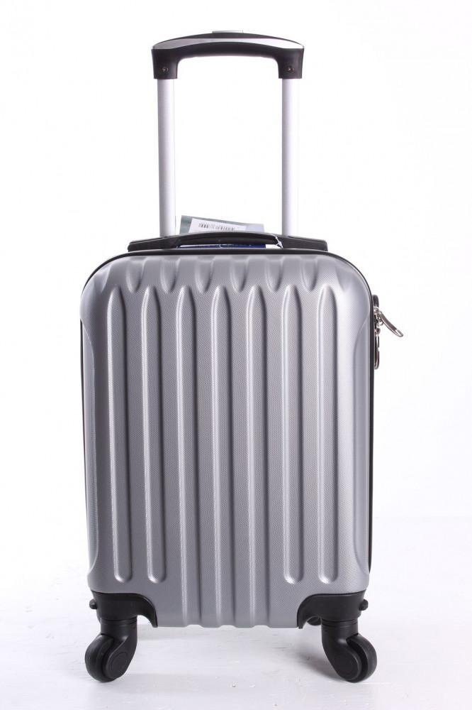 Cestovný kufor LEONARDO DA VINCI - sivý (32x42x20 cm + 5 cm kolieska)