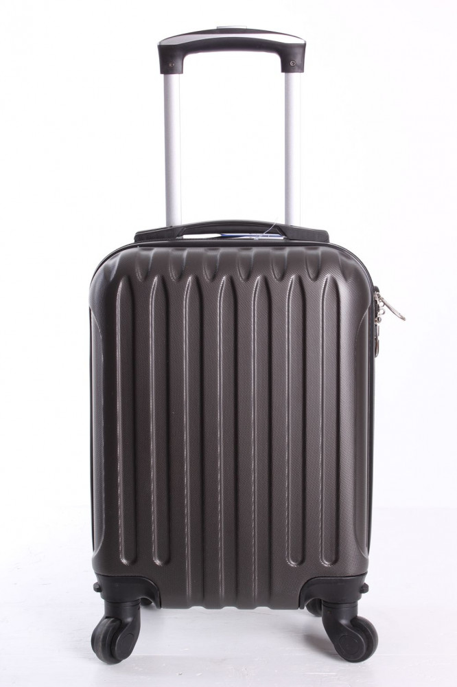 Cestovný kufor LEONARDO DA VINCI - tmavosivý (32x42x20 cm + 5 cm kolieska)