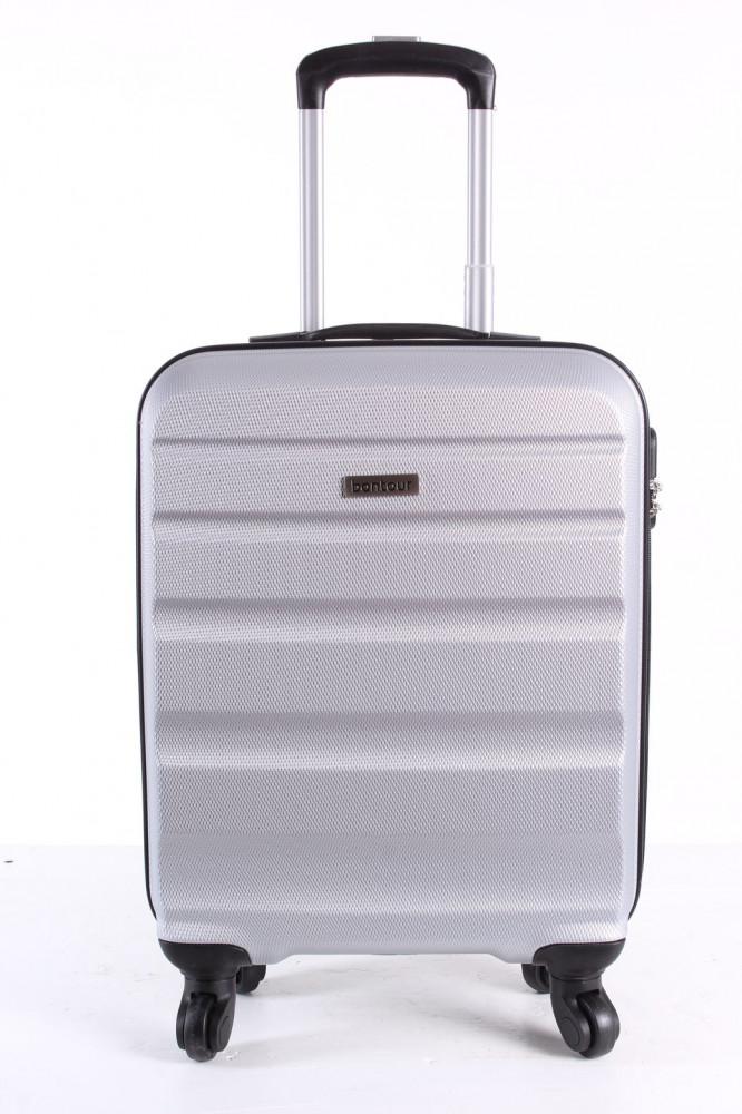 Cestovný kufor malý BONTOUR (55x40x20 cm) - strieborno-sivý